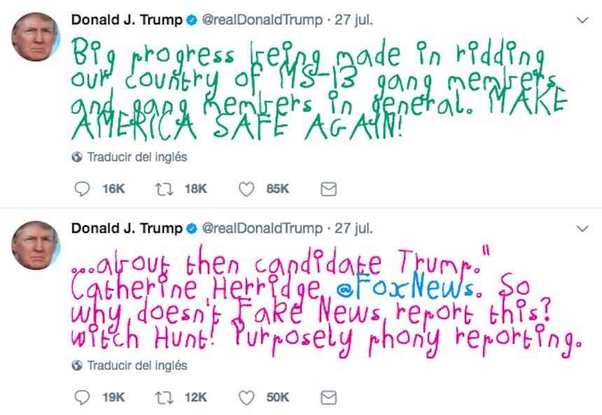 Chrome - Extensión para publicaciones de Trump