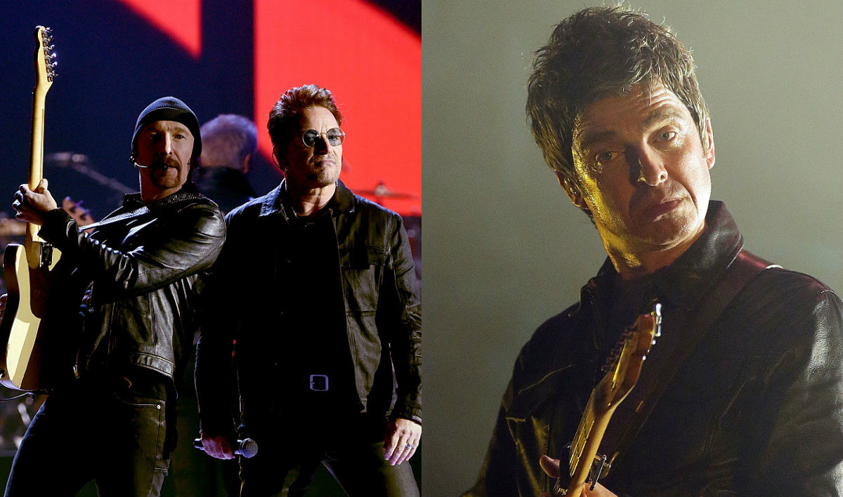 """Mira a U2 y Noel Gallagher tocar """"Don't Look Back in Anger"""""""