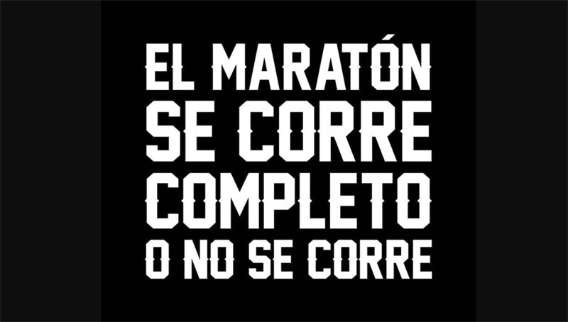 """""""El Maratón se corre completo o no se corre"""": la campaña que quiere enaltecer el Maratón de la CDMX"""