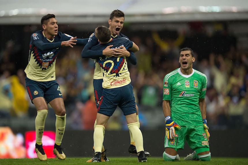 América salvó el empate en los últimos minutos ante Tigres