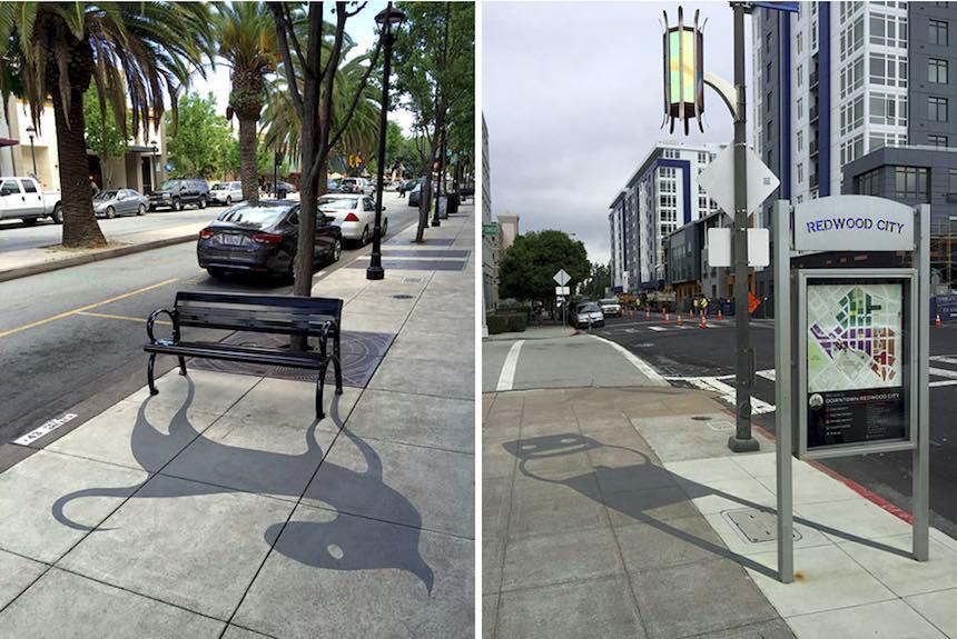 Artista callejero - Arte con sombras