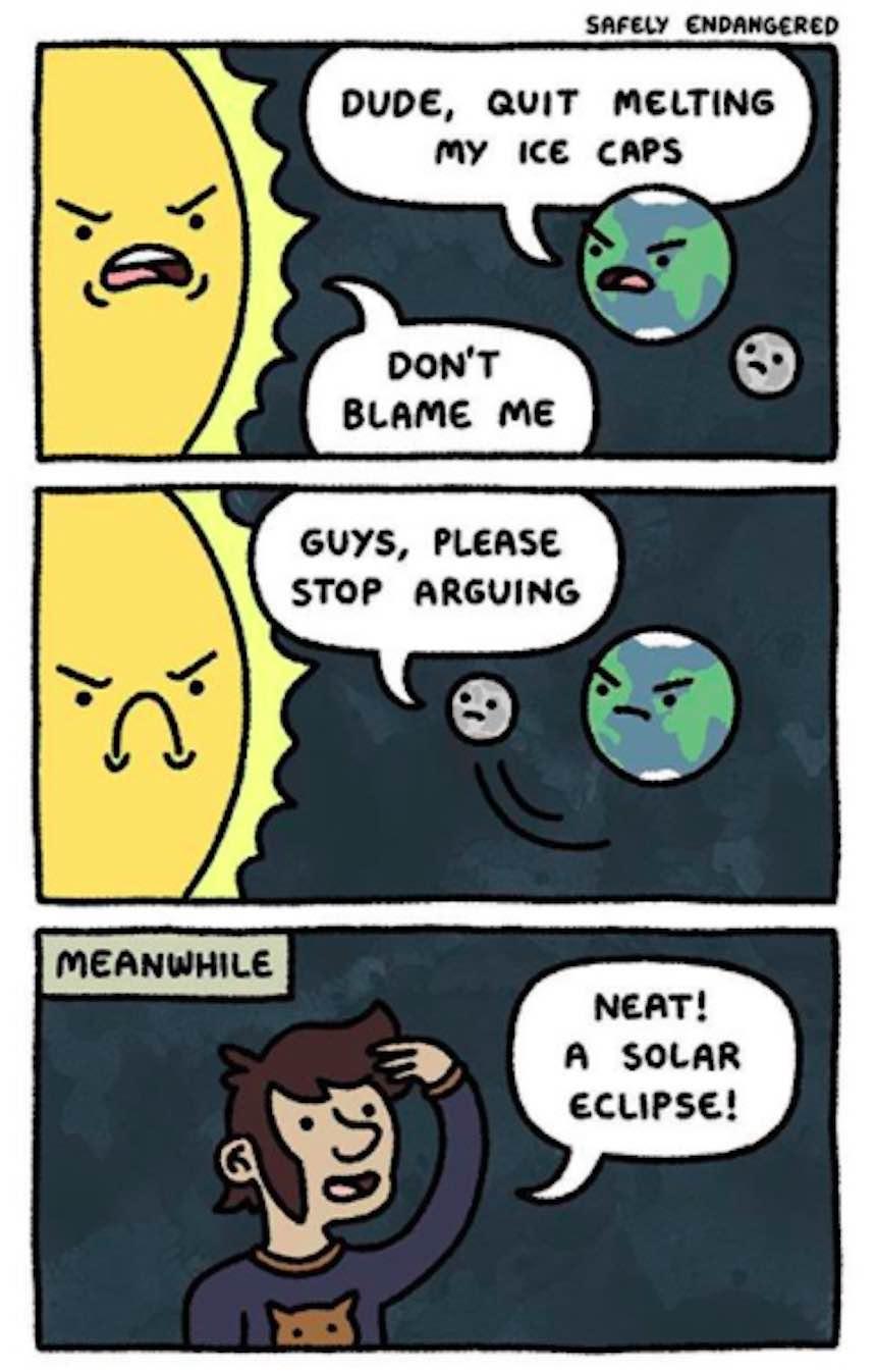 Memes del eclipse - Espacio