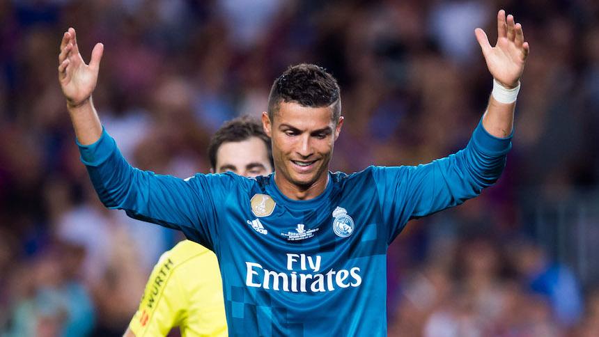 Cristiano Ronaldo suspendido cinco partidos por empujar al árbitro