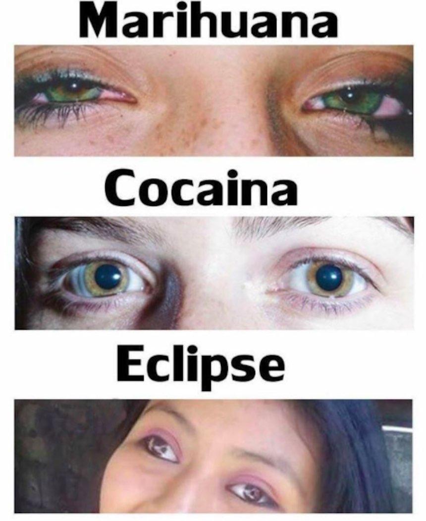 Memes del eclipse - Drogas