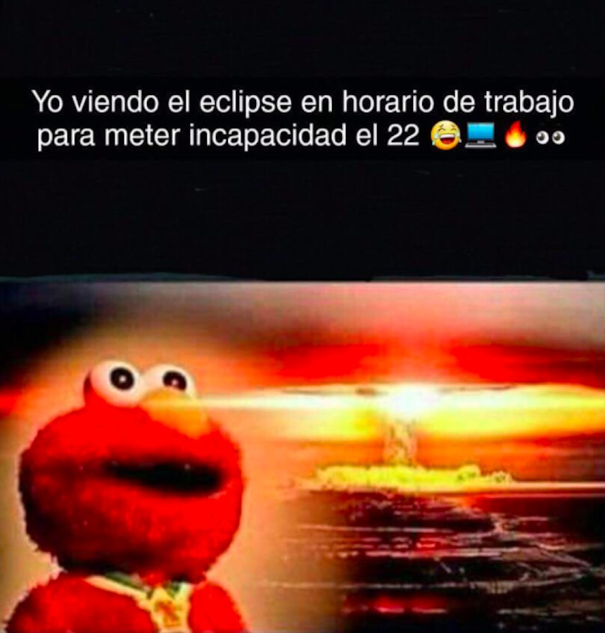 Memes del eclipse - Elmo