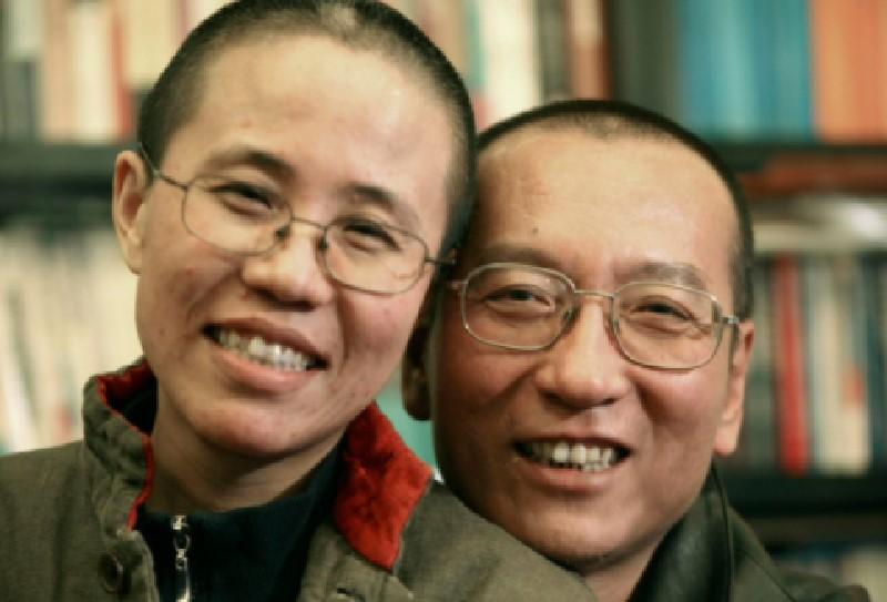 Liu Xia y el fallecido Liu Xiaobo