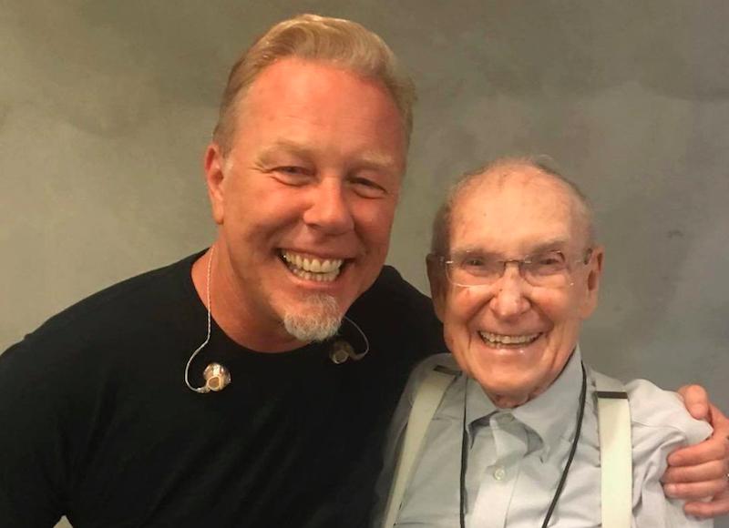 El papá de Cliff Burton rockea en los shows de Metallica a sus 92 años