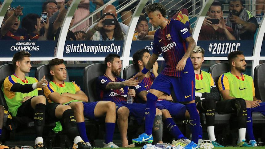 Así se despidió Lionel Messi de Neymar
