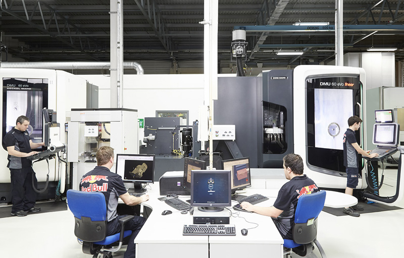 Laboratorio de pruebas del Red Bull Racing Team
