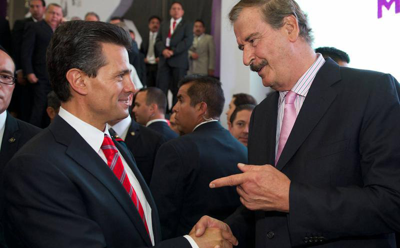 Vicente Fox y Enrique Peña Nieto