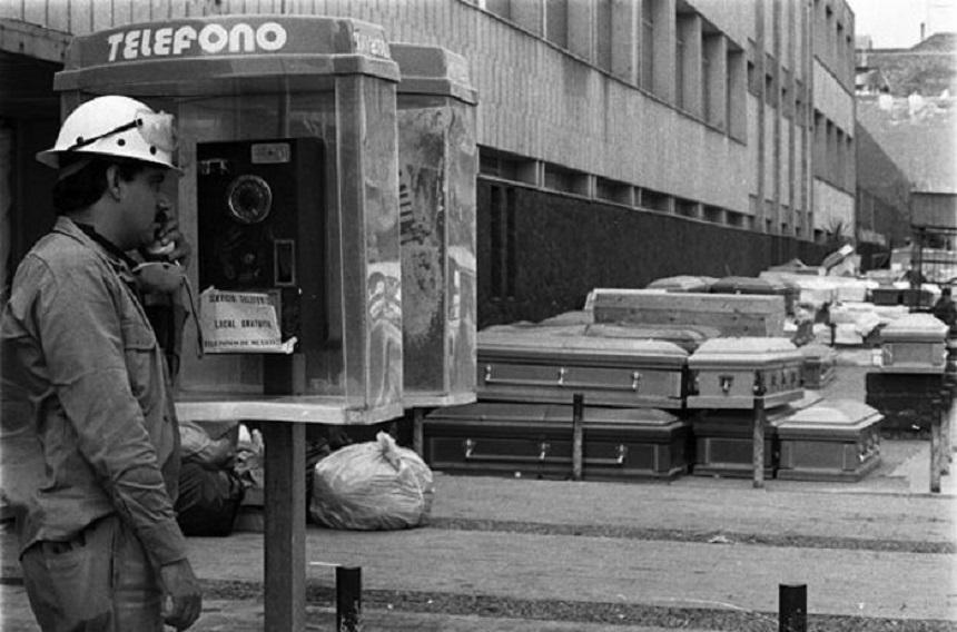 Cabinas de teléfono - Sismo de 1985