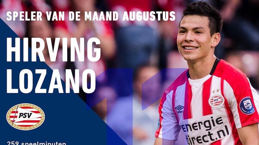 Chucky Lozano es elegido el mejor jugador del mes en la Eredivisie