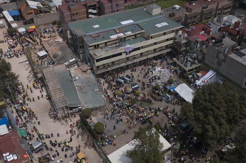 Escuela Enrique Rébsamen después del sismo