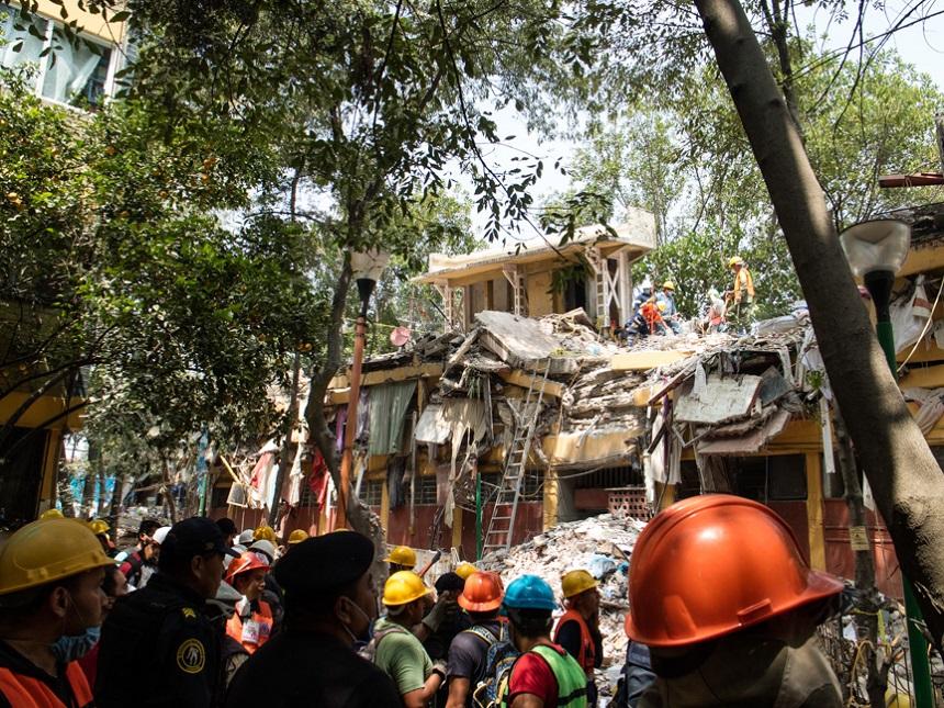Conjunto urbano de Tlalpan después del sismo