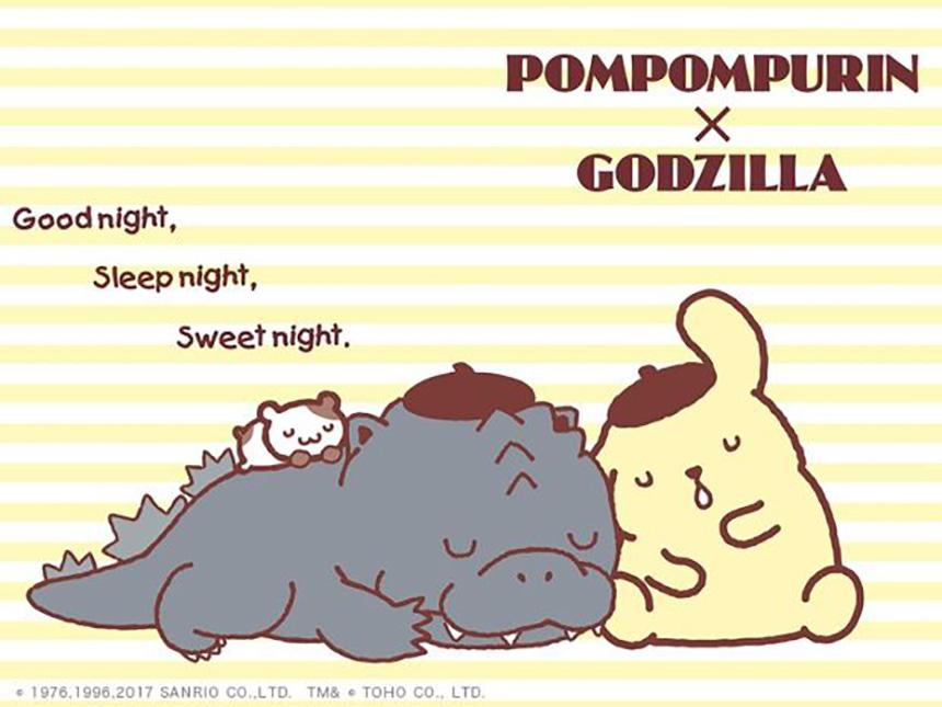 Hello Kitty y Godzilla