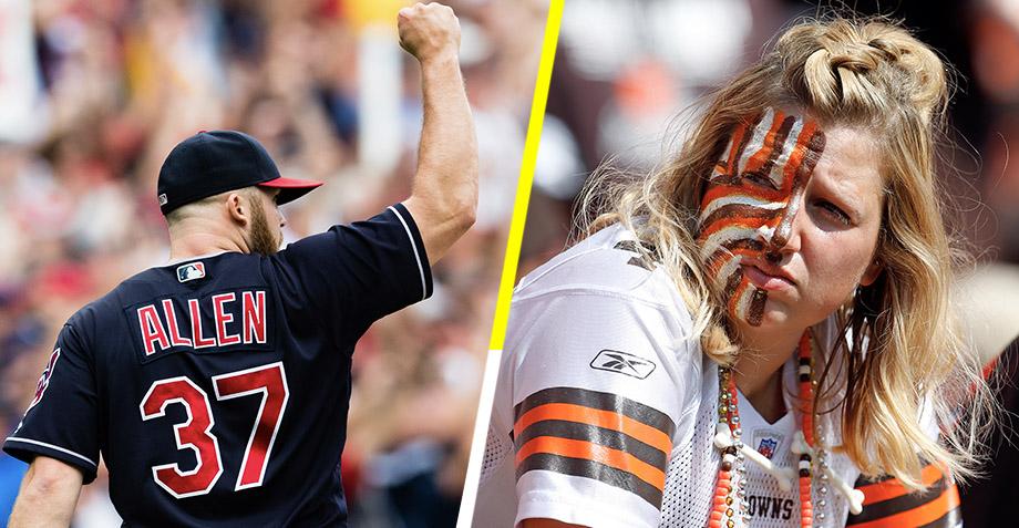 Los Indians llevan más victorias en su racha que los Browns en cinco años