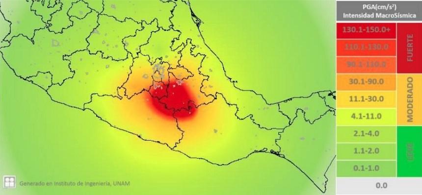 Sismos en México - Intensidad