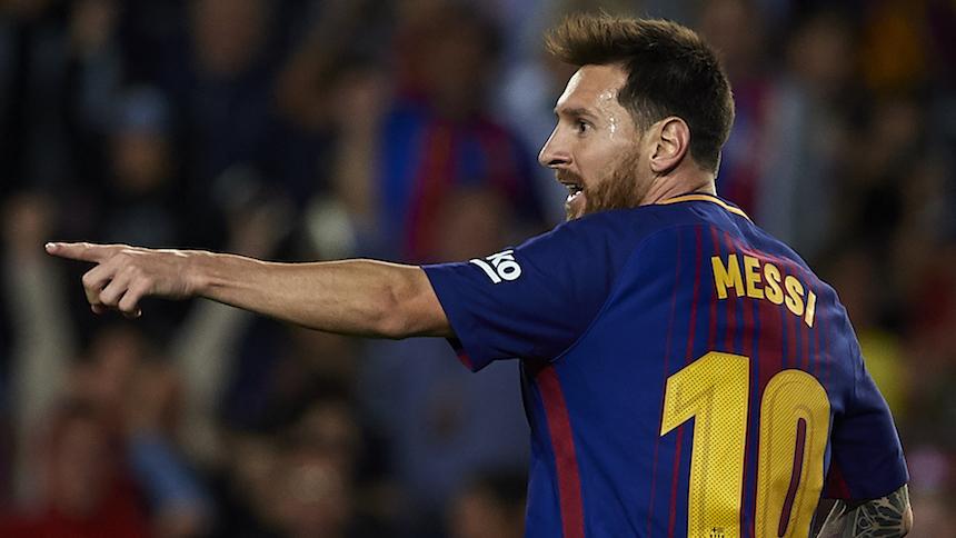 Hat-trick de Messi, debut de Dembelé y golead del Barcelona