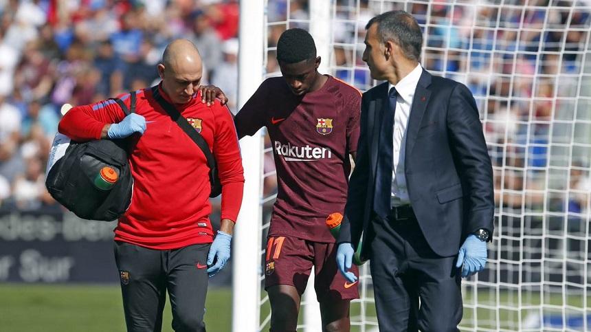 Alarmas en Barcelona: Se lesionó Ousmane Dembélé