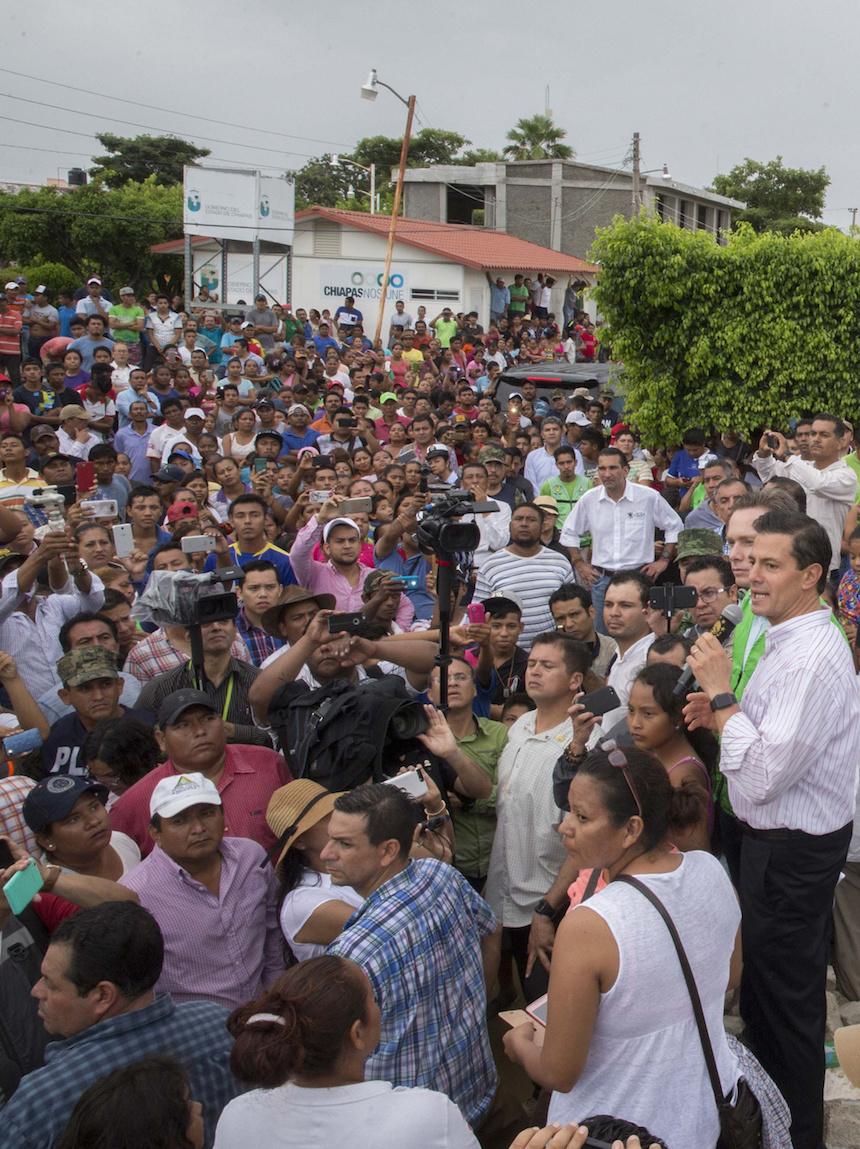 El presidente Peña Nieto recorrió Tonalá, Chiapas
