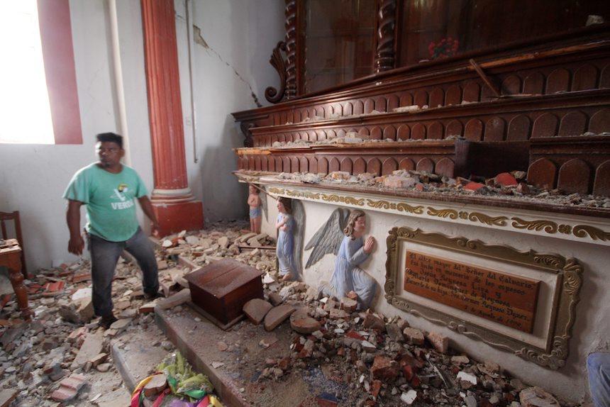 Efectos del sismo en Chiapas