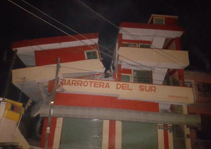 Hotel Matías Romero completamente destruido