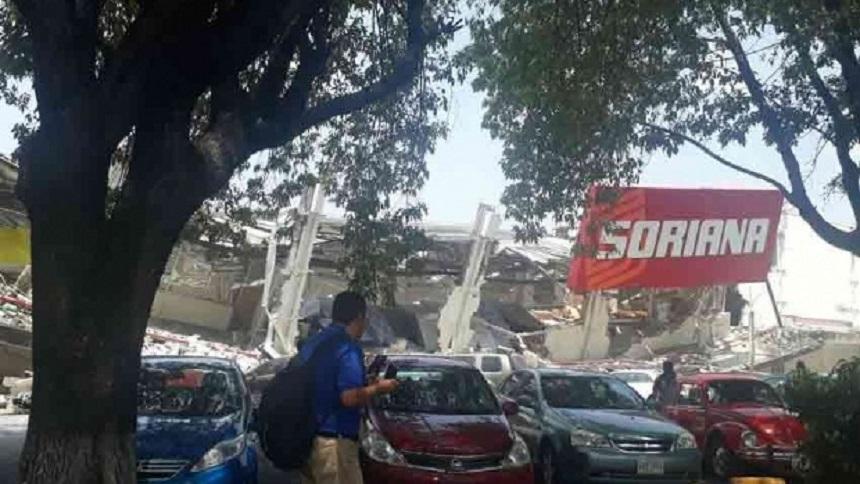 Soriana de Taxqueña después del sismo