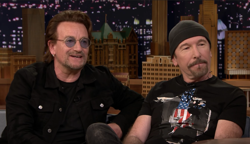 "Mira a U2 tocar ""You're The Best Thing About Me"" en el show de Jimmy Fallon"