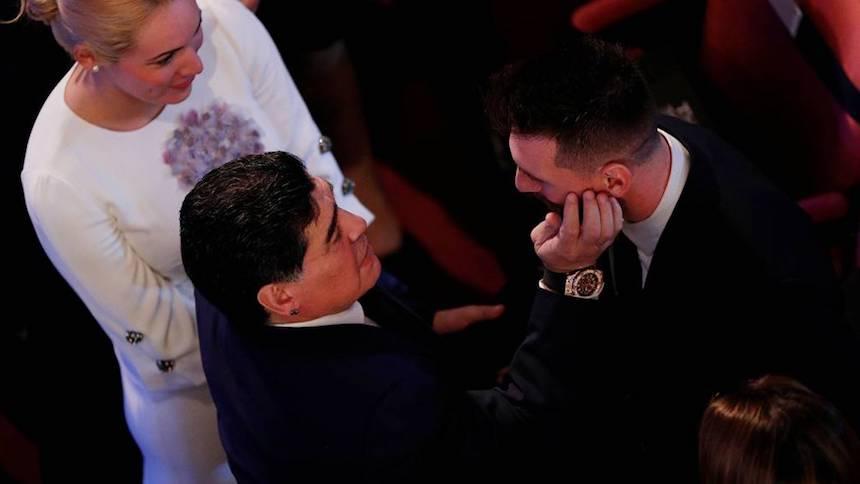 Encuentro de 10: Maradona y Messi se vieron en The Best
