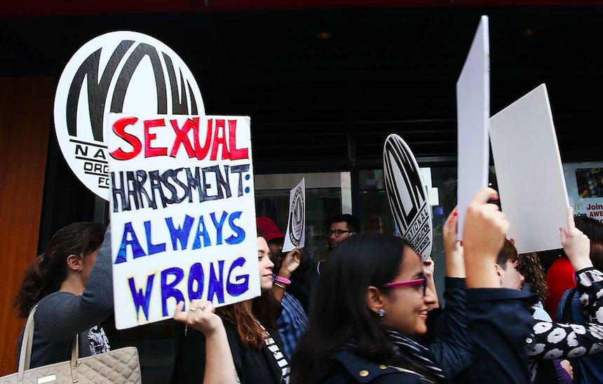 Protesta en contra del acoso sexual