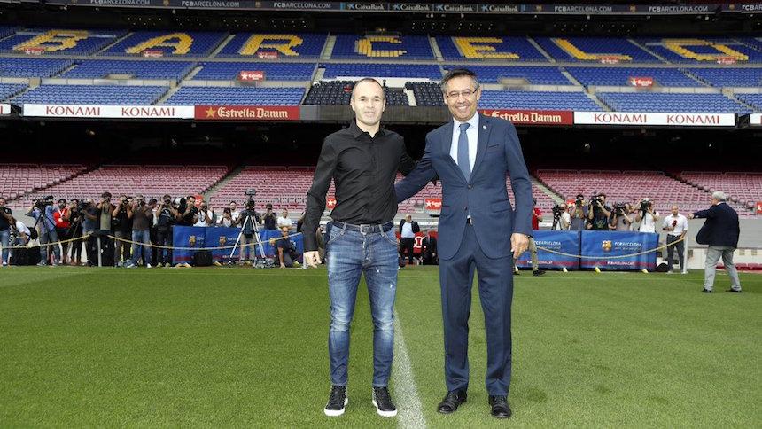 ¡Andrés Iniesta será del Barcelona de por vida!