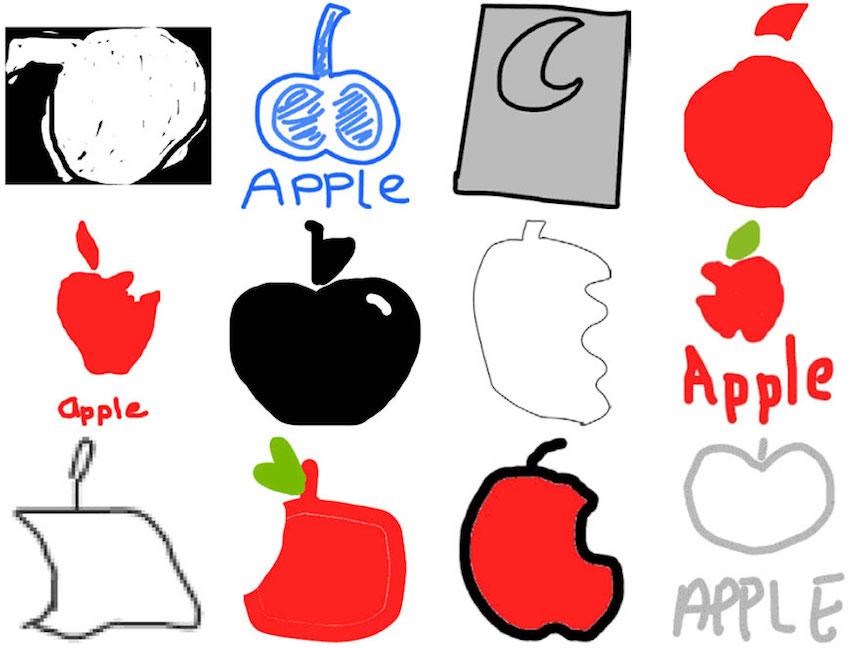 Apple - Dibujos de los logos