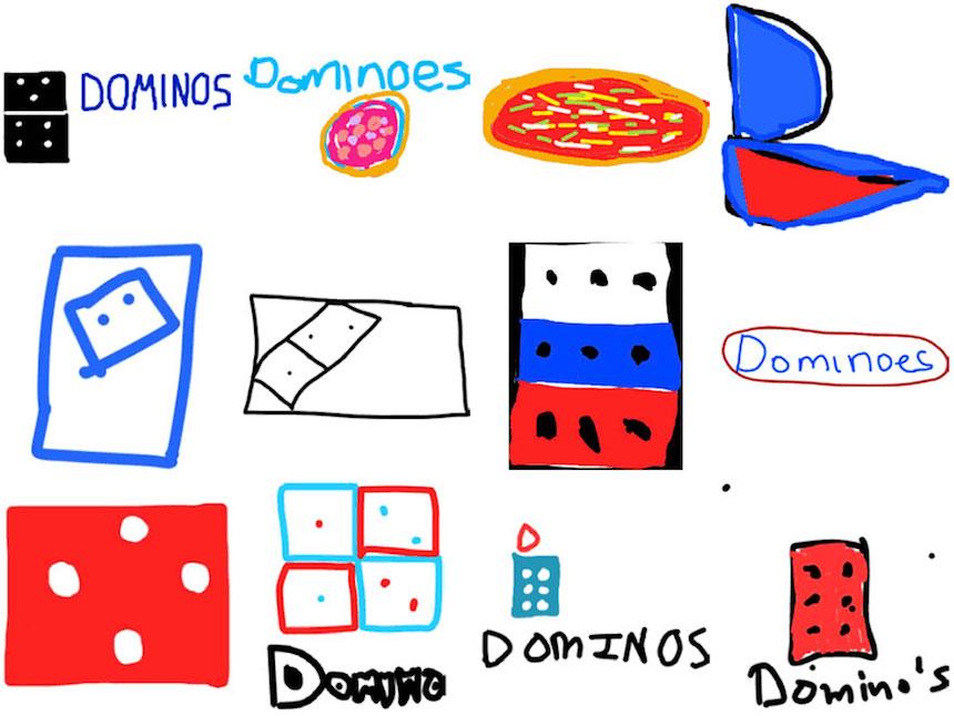 Domino's Pizza - Dibujos de los logos