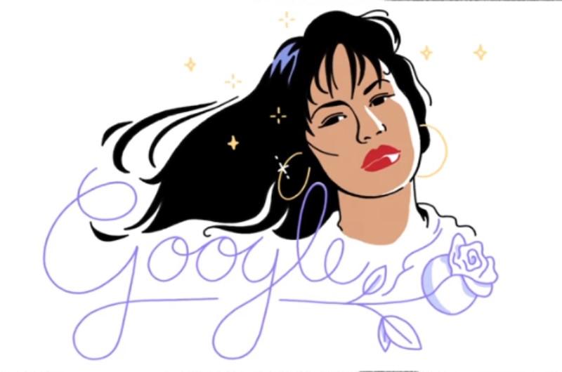 Emociónese con el doodle de hoy dedicado a Selena