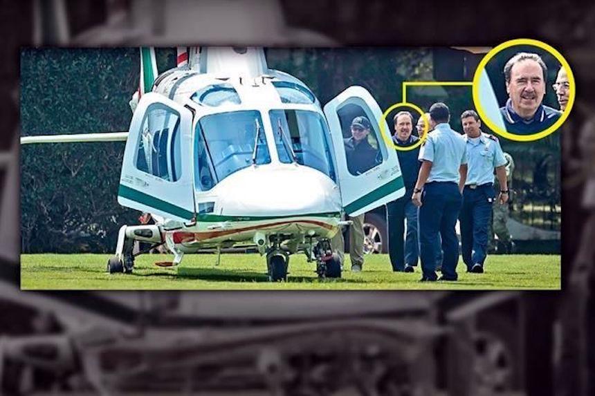 Emilio Gamboa usa helicóptero oficial para ir a jugar golf