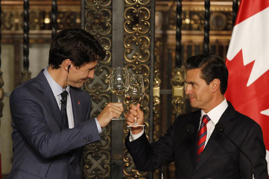 Justin Trudeau y Peña Nieto