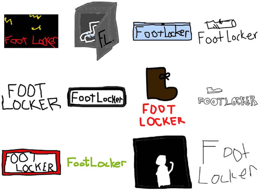 Footlocker - Dibujos de los logos