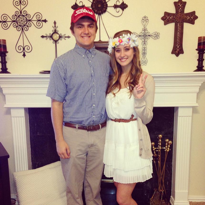 Disfraces para parejas de Halloween - Forrest y Jenny