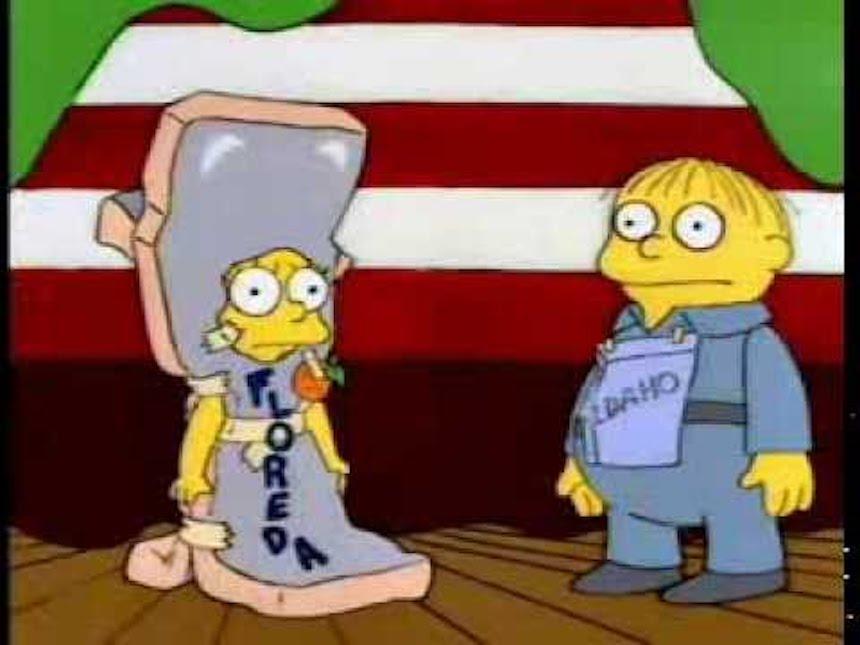 Lisa disfrazada de Florida