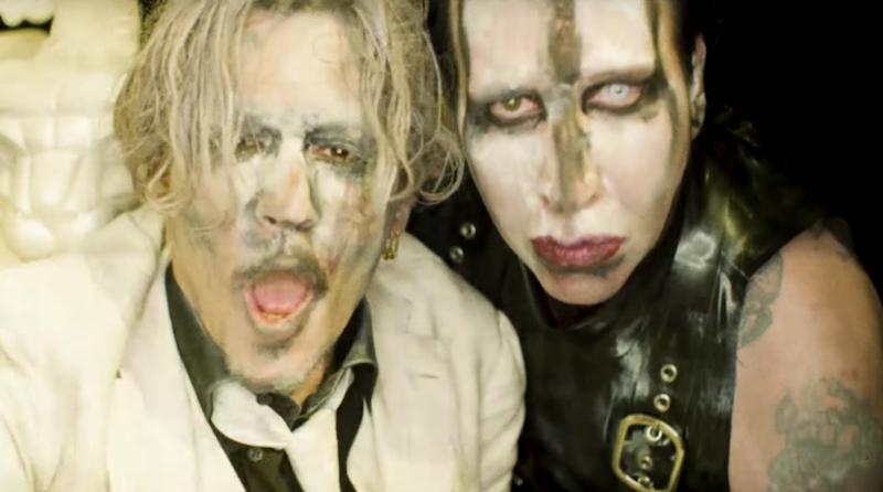 """Johnny Depp protagoniza el extraño video de Marilyn Manson para """"SAY10"""""""