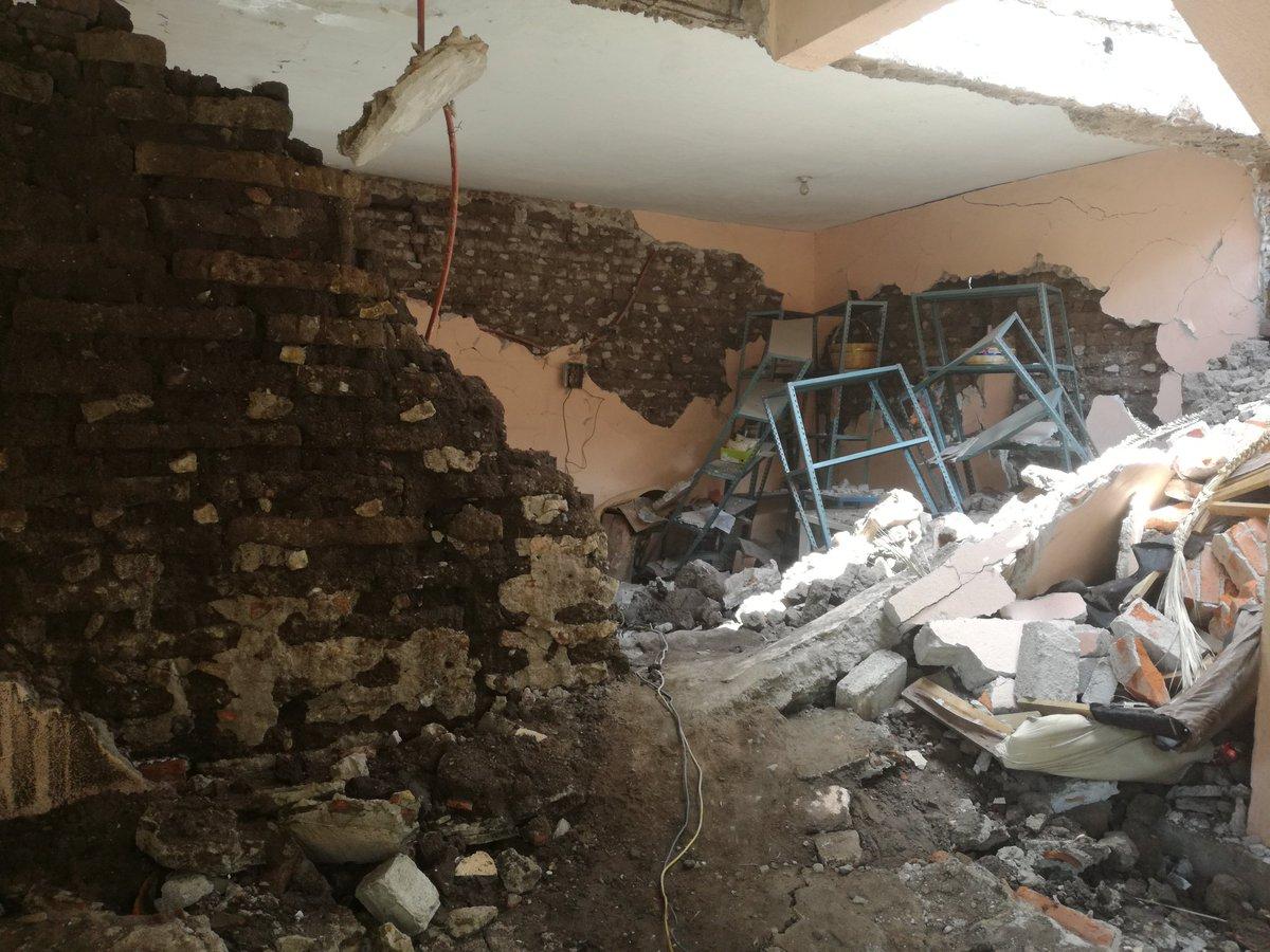 casa derrumbada por el sismo