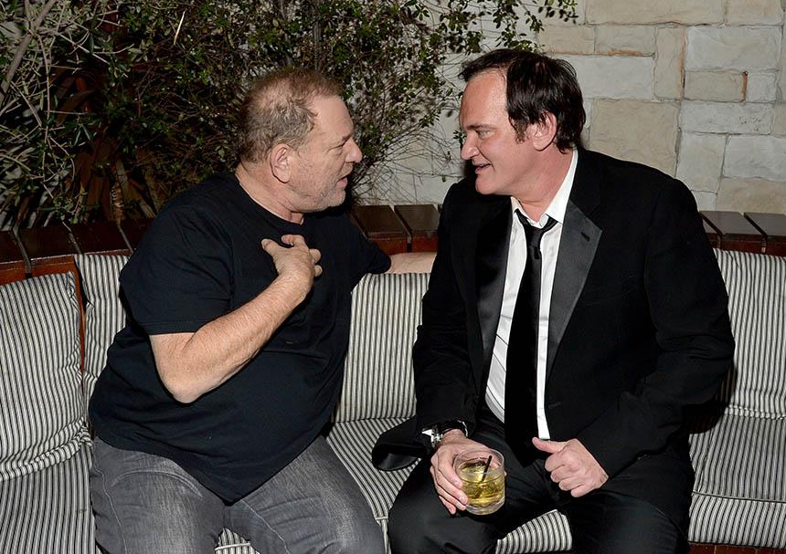 Quentin Tarantino y Harvey Weinstein