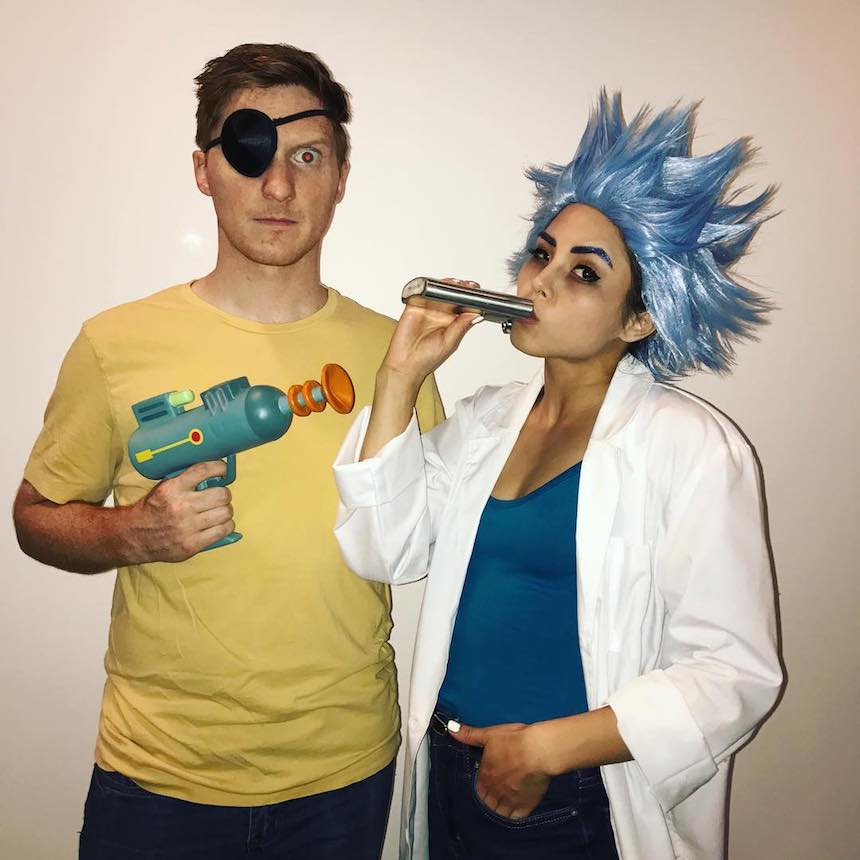Disfraces para parejas de Halloween - Rick y Morty