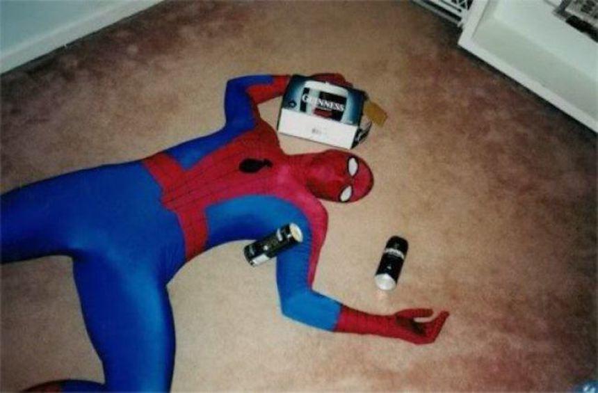 Spider-Man borracho