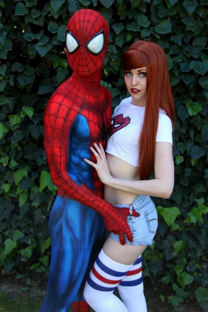 Disfraces para parejas de Halloween - Spider-Man y Mary Jane