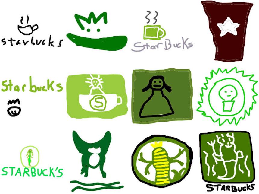 Starbucks - Dibujos de los logos