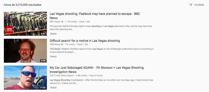 Videos del tiroteo en Las Vegas
