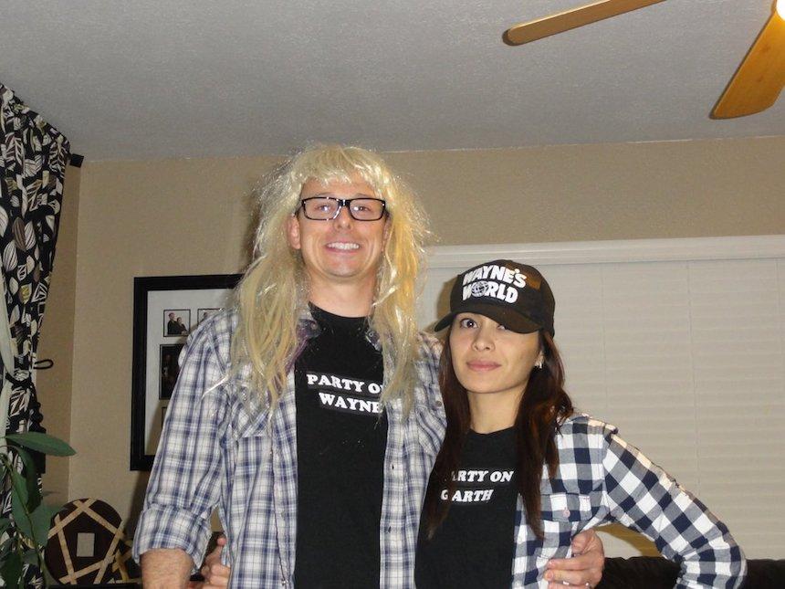 Disfraces para parejas de Halloween - Wayne y Garth