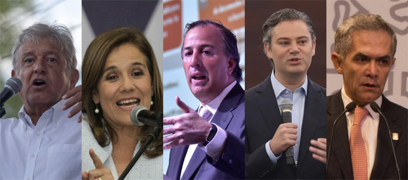 Candidatos Elecciones México 2018