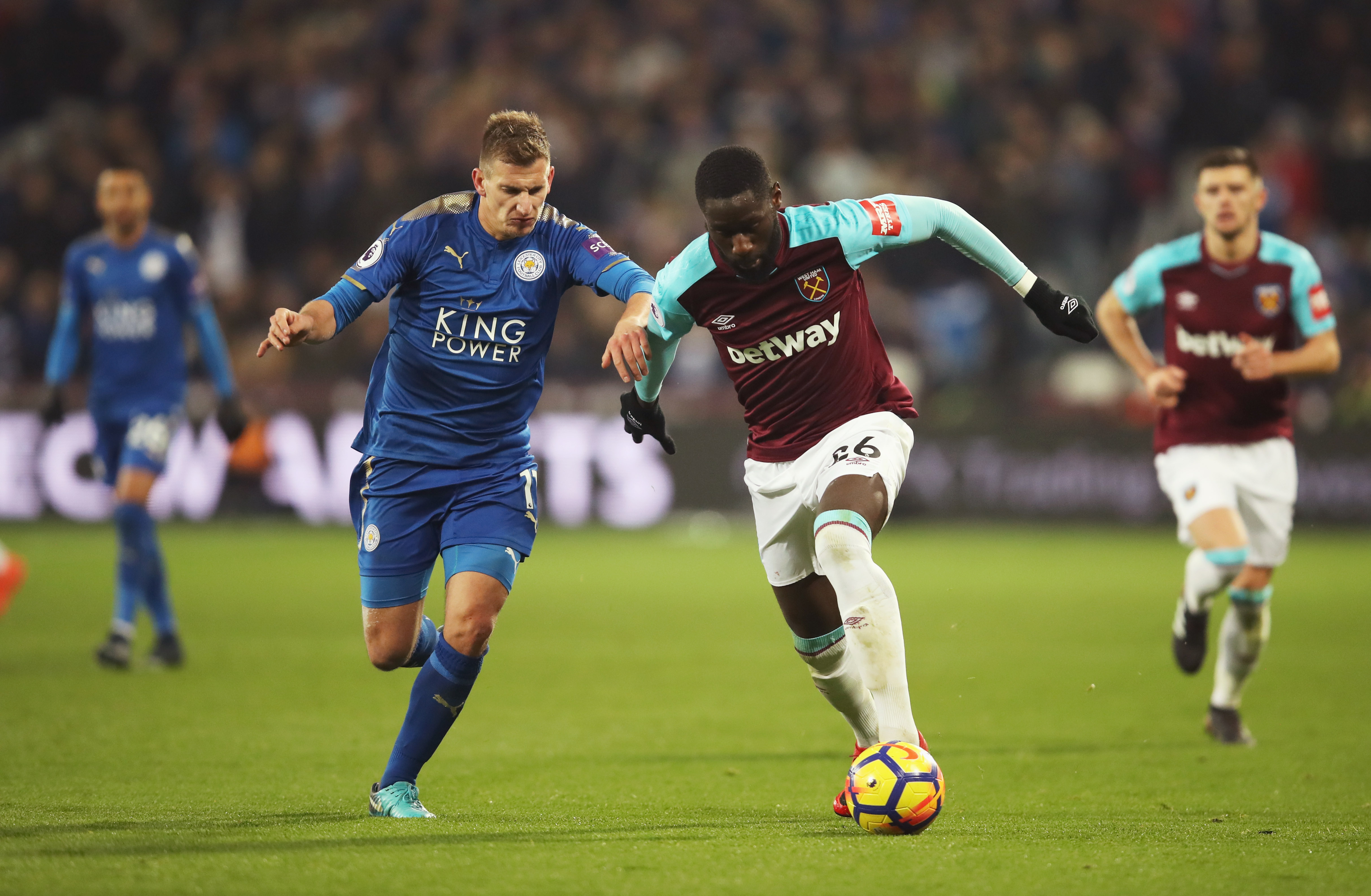 West Ham empató 1-1 ante Leicester en la Premiere League